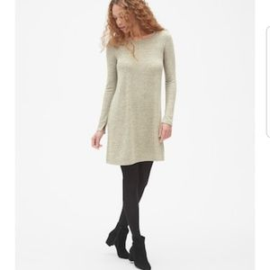 EUC GAP Metallic Softspun Dress